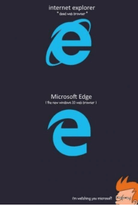 Internet, Memes, and Microsoft: internet explorer  dead web browser  Microsoft Edge  (the new windows 10 web browser)  im watching you microsoft S