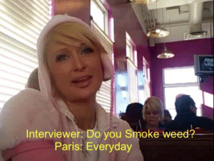 Weed, Paris, and You: Interviewer: Do you Smoke weed?  Paris: Everyday