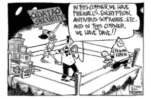 IT Professionals will understand.: INTHIS COTNER WE HAVE  DATFIREWALLS, ENCRYPTION,  AND IN THIS CORNER,  ERROR IT Professionals will understand.