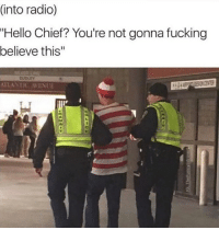 "It's over, Waldo. (@funny) memesapp: (into radio)  ""Hello Chief? You're not gonna fucking  believe this""  DUDLEY  ATLANTIC AVENUE It's over, Waldo. (@funny) memesapp"