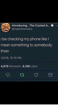 Checking My Phone