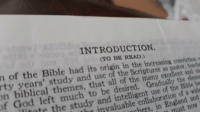 Gods Left: INTRODUCTION.  (TO BE READ)  n of the Bible had its orizin in the increasina, conviction  rty y  ears' study and use of the Scriptures as pastor, teach  hat all of the many excellenta  of God left much to be desired, Gradually the dene  nte the study and intelligent use of the Bible b  invaluable collaboration of a wid  hers, in England and  must now