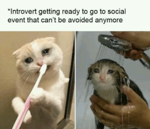 : *Introvert getting ready to go to social  event that can't be avoided anymore