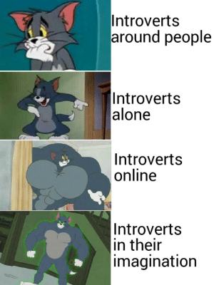 Very accurate: Introverts  around people  |Introverts  alone  Introverts  online  Introverts  in their  imagination Very accurate