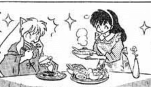inukag-4ever:Even though Kagome's busy fighting youkai, she still has time to fantasize about bein' a cute lil' housewife making food for her hanyou: inukag-4ever:Even though Kagome's busy fighting youkai, she still has time to fantasize about bein' a cute lil' housewife making food for her hanyou