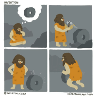 9gag, Memes, and Holes: INVENTION  @SKELETON CLAw  SKELETONCLAw.CoM A hole's a hole, no matter how you roll. - cr: @skeleton_claw - comics homosapien invention 9gag