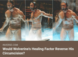 Club, Tumblr, and Blog: INVERSE.COM  Would Wolverine's Healing Factor Reverse His  Circumcision? laughoutloud-club:  Asking the real questions