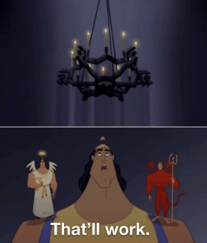Invest in Kronk looking up at a chandelier!: Invest in Kronk looking up at a chandelier!