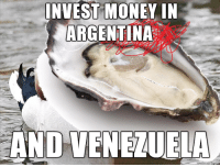 Bad Advice Oyster (imgur.com): INVEST MONEY IN  ARGENTINA  AND VENEZUELA Bad Advice Oyster (imgur.com)