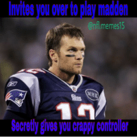 """Ch-ch-ch-ch-cheater! 😂😂😂 @nfl @patriots @patriots_vip_nation @patriotsmaniaeditor I wonder what patriot fans are going to get mad at me😂😂 Responses a pats fan will say 1: HATER 2: You hate us cause you ain't us 3: tom brady is goat 4: """"I'm unfollowing cuz your a hater"""" 5: freebrady: Invites you over to play madden  On memes15  MH  Secretly Nes)OU Chappy Controller Ch-ch-ch-ch-cheater! 😂😂😂 @nfl @patriots @patriots_vip_nation @patriotsmaniaeditor I wonder what patriot fans are going to get mad at me😂😂 Responses a pats fan will say 1: HATER 2: You hate us cause you ain't us 3: tom brady is goat 4: """"I'm unfollowing cuz your a hater"""" 5: freebrady"""