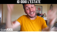 Memes, Video, and 🤖: IO ODIO L'ESTATE  ScunlaZ00  @GiacomoHawkman Un riassunto della mia estate Grazie a @giacomohawkman per il video estate odio