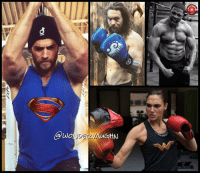 """Memes, Green Lantern, and Beast Mode: io,  wo  AUGHN Beast Mode: Activated! @henrycavill teases needing to be bigger than GREEN LANTERN! I'm betting they all know who he is...can't wait to find out! *** """"Since I came off the ol knee injury I've been steadily increasing my training work load. I know it's irritating when people say this but it genuinely does feel so good to be back in it. I'm not destroying myself every day. Just working towards improvement by pushing hard enough to illicit change. Nothing funny to post here, it's deadly serious because I've got to make sure that I'm bigger than Green Lantern....Wait whaaat?"""" *** And many thanks to @gal_gadot @prideofgypsies and @rehsifyar for their amazing dedication to portraying their characters!"""