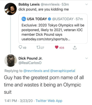 IOC Member Dick Pound Has An Announcement by biorod MORE MEMES: IOC Member Dick Pound Has An Announcement by biorod MORE MEMES