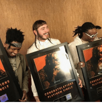 PostMalone's 'Congratulations' featuring Quavo (Produced by MetroBoomin) went platinum 👏 WSHH: IONS  NGLE  CONGRATULATIONS  PLATINUM SINGLE  CONGRAT  PLATINU  o PostMalone's 'Congratulations' featuring Quavo (Produced by MetroBoomin) went platinum 👏 WSHH