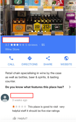 memehumor:  Cheers for the review, pal.: IPA  3.25 reviews $$  Wine Store  CALL DIRECTIONS SHARE WEBSITE  Retail chain specialising in wine by the case  as well as bottles, beer & spirits, & tasting  counte.  Do you know what features this place has?>  3 weeks ago  This place is good to visit very  helpful staff it should be five star ratings  I Helpful? memehumor:  Cheers for the review, pal.