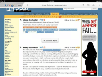 """-Johnny Phuong  About to go do some CAS :/ Here is the definition of sleep deprivation:: iPad  11:12 AM  Google  sleep  Urban Dictionary: sleep deprivation  sleep deprivation  search  CTIONARY  word of the day  categories  favorites  dictionary  game  thesaurus  names  media  store blog  random A B C D E F G H 1 J K L M N O P  U V W X Y Z new tv  1. sleep deprivation  230 up, 34 down 9  trending  WHEN DI  Simba  The International Baccalaureate Diploma Program NThe IB)  charizard  parm  The IB is the ultimate academic path to sleep deprivation  pickle copter  pomosexuality  mark as favonte Ibuy Sleep deprivation mugs & Shirts  FAIL  Swag  ib international baccalaureate joke definition of coffee definition of sleep deprivation  the moose  by ET Nov 26, 2006  add a video add an image  cheesy alabama hot  your Hormonest""""  michigan state  New York Dochit Here's  university  Random Word  categories  gaming  2. sleep deprivation  107  up, 16 down 9  An unfortunate side effect of the International Baccalaureate program. In order to finish  film  the requisite amounts of work, sleep is often neglected. This produces symptoms  military  including, but not limited to: red eyes, yawning, falling asleep in class, excessive bragging  music  about how hard you worked, lack of motivation, napping in unorthodox places (hard floors,  etc.), and occasionally in a highly intellectual mental state (allowing many in-depth  nsults  observations and an ability to understand complex concepts). Sleep deprivation is also a  See also  common tool for bragging, with the more sleep deprived participant being declared the  nsomnia  victor,  tired  torture  Student 1: Ive got some hardcore sleep deprivation. had to do three hours of calculus  drugs  homework, finish an English essay, and have a chemistry test next period.  international  baccalaureate  CLICK HERE  jetlag  Student 2: That's nothing. had to finish my history IA, TOK essay, biology worksheets,  all nighter  and the math homework. I d"""