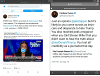 Bailey Jay, Desperate, and Ipad: iPad  5:21 PM  a Twitter, Inc.  pbs.twimg.com  Q Search Twitter  DnY8f0uW4AULb01 1,112 x1,200 pixels  Log in  Sign up  Candace Owens  @RealCandaceO  Candace Owens  @RealCandaceO  Just an opinion @jaketapper but it's  likely bc you come across as insin-  cere and desperate to hate Trump  You also reached peak arrogance  when you told Steven Miller that you  didn't want to hear the truth about  @realDonald Trump. You lost all  credibility as a journalist that day  WOW. Now THIS is a version of @jaketapper that  I can respect. This segment was exceptional  @Ocasio2018 truly has no idea what she is doing  but, ya know  FREE STUFF  Alana Mastrangelo @ARmastrangelo  She has no idea where she's going to get the money... and she's  going to be in congress, embarrassing the hell out of the Dem party,  for the next 30 years.  New York  907 AM ET  Paul Joseph Watson@PrisonPlanet  CNN's Jake Tapper has lost 32 per cent of his  audience compared to this time last year.  #CNNSOTU  LIVE  GOV. CUOMO DEFEATS CHALLENGER CYNTHIA NIXON BY 31 POINTS   CA  Δ loyannnaraen-Cortez (D) New York Con ressonal Candidate  1:48 480.2K views  INVESTIGATORS WE典E INTERESTED SPECIFICALLY I San8orhE-  7:49 PM 22 May 18  10:17 AM Sep 18, 2018  4.2K RetweetsK Likes