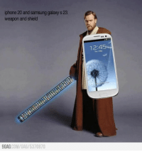 9gag, Dank, and Future: iphone 20 and samsung galaxy s 23.  weapon and shield  9GAG COM/GAG 5370870  12:45 In the future