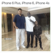 iPhone 6 Plus, iPhone 6, iPhone 4s  @NBAMEMES The different iPhones!