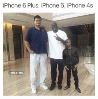 iPhone 6 Plus, iPhone 6, iPhone As  @NBAMEMES basically