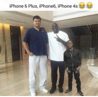 iPhone 6 Plus, iPhone6, iPhone 4s Men in comparison with an iPhones...
