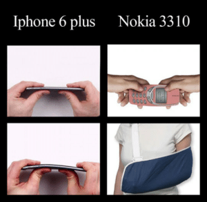 srsfunny:  Just Trying To Break The Unbreakablehttp://srsfunny.tumblr.com/: Iphone 6 plus  Nokia 3310  0000, srsfunny:  Just Trying To Break The Unbreakablehttp://srsfunny.tumblr.com/