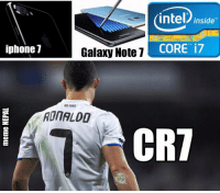 Iphone, Intel, and iPhone 7: iphone 7  intel inside  Galaxy Note 7  CORE i7  CRT Reasons why 7 is my favourite number !!