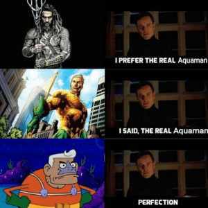 I knew it: IPREFER THE REAL Aquaman  ISAID, THE REAL Aquaman  PERFECTION I knew it