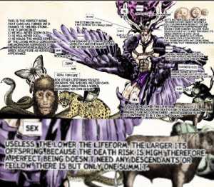 It is cannon that Kars has no penis: IQ  CAN DETECTHEAT AND AIR MOVEMENT  400  EARING  INITS MOTHERS BELLY AND IN UNDER  TEN MONTHSATHE EMBRYO BECOMES A  FULLY GROWN HUMAN BEING AT THE END  OF A TRANSFORMATION REPRESENTING  ROUGHLY NINE-HUNDRED-MILLION YEARS  OFEVOLUTION THAT IS WRITTEN INSIDE ITS  GENES INSOFAR AS CARS CELLS  CONTAIN THE GENETIC DATA FROM  THE WHOLE EVOLUTION PROCESS. HE  CAN TRANSFORM INTO ANY LIVING BEING  BYPUTTING THAT KNOWLEDGE TO PRACTICE  THIS IS THE PERFECT BEING  THAT CARS HAS TURNED INTO  THANKS TO THE RED STONE...  D HE IS INVINCIBLE!  2) HE WILL NEVER GROW OLD!  3) HE WILL NEVER DIE!  4) HE HOLDS THE WHOLE POWER  OF THE LIVING WORLD CONCURRENTLY  AND MOREOVER SURPASSES IT!  AND HEHAS THE BEAUTY OF A  GREEK SCULPTURE AS HIS'BASIC GRIP  APPEARANCE  CAN DISTINGUISH FROM  A BAT SCREAM TO A WHALE CHANT  SIGHT  SANE AS ASPACE  TELESCOPE  sETOS  CAN DISMANTLE IT ON A CELULAR  LEVEL TO TAKE THE SHAPE OFANY  KIND OF HUMAN OR ANIMAL  AUSCLES  CAN HEAL ANYNOUNDS QUICKLY  IN OTHER WORD5.CAN TRANSEORM  VERY CUICKLY AT HIS OWN WILL  900KG/CM  JUMP  FAVORITE FOOD  18M  HUMAN TURNED INTO  VAMPIRE CCAN STAY ACTIVE ONE  YEAR WITHOUT DRINKING OR EATING  GOAL FOR LIFE  FOR OTHER LIFEFORMS,IT STO  PRESERVE THE SPECIES, BUT FOR CARS  ITS ABOUT CREATING A WORLD  MATCHING HIS OWN DESIRE  SLEEP USELESS  SEX  USELESS THE LOWER THE LIFEFORM. THE LARGER ITS!  OFFSPRING BECAUSE THE DEATH RISK ISHIGH THEREFORE  APERFECT BEING DOESN'T NEED ANY DESCENDANTS OR  FELLOW THERE IS BUT ONLYONE SUMMIT.  SEX  USELESS THE LOWER THE LIFEFORM THE LARGER ITS  OFFSPRING BECAUSE THE DEATH RISK IS HIGH THEREFORE  APERFECT BEING DOESN T NEED ANY DESCENDANTS OR  FELLOW THERE IS BUT ONLY ONE SUMMIT It is cannon that Kars has no penis