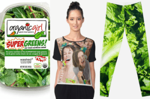 5 Funny 'Girl Laughing With Salad' Meme Halloween Costume Ideas That ...: ir  good clean greens  SUPERGREENS!  our most nutritious salad!  the extra nutrition of five SUPERFOOD baby greens  red & green swiss chard, tat soi, arugula & spinach  POW  washed3 LC  we washed 3 times  so you don't have to  100%  NETWT502(1426) 5 Funny 'Girl Laughing With Salad' Meme Halloween Costume Ideas That ...