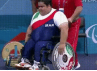 his uniform says Iran... but I'm guessing that's a lie: IRAN his uniform says Iran... but I'm guessing that's a lie