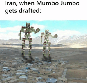 Mumbo Jumbo to the rescue!: Iran, when Mumbo Jumbo  gets drafted: Mumbo Jumbo to the rescue!