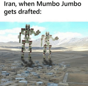 Redstone: Iran, when Mumbo Jumbo  gets drafted: Redstone