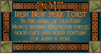 Wishing you all the best in the new year: Ireland Calling  IRISH New yeAR IN THE NAME OF OLD ERIN  HERE'S WISHING you GOOD CHEER  GOOD LUCK AND GOOD FORTUNE  FOR MANY A YEAR.  ireland-calling com Wishing you all the best in the new year