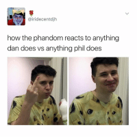 Bad, Fandom, and How: @iri decent djh  how the phandom reacts to anything  dan does vs anything phil does in your opinion what's a really bad song