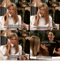Fake, Friends, and Funny: IRISH ACCENTl  Ross. this is Dr. McNeely  trom Fake Accent University  JURASSIC.PARKA  6x04  We'd like vou to come onboard  to  with us full-time.  BOTH LAUGHING ✨😂😂😂 - { rossgeller rachelgreen monicageller friendship friends funny friendstvshow}