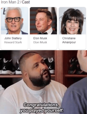 Daddy elon owo: Iron Man 2/Cast  ALD  John Slattery  Elon Musk  Christiane  Howard Stark  Elon Musk  Amanpour  Congratulations,  you played yourself. Daddy elon owo