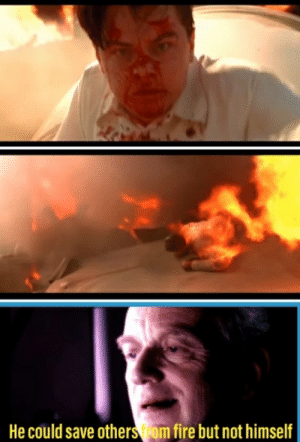 Ironic fact: Leonardo DiCaprio refused the role of Anakin in the PT. But in 2004 he accepted the aviator were he did this scene: Ironic fact: Leonardo DiCaprio refused the role of Anakin in the PT. But in 2004 he accepted the aviator were he did this scene