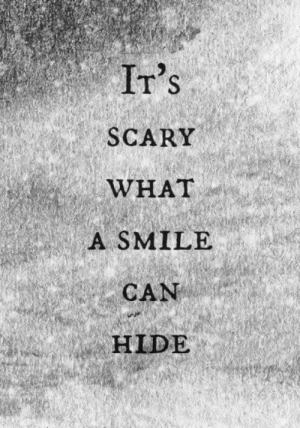 Irs, Smile, and Can: Ir's  SCARY  WHAT  A SMILE  CAN  HIDE