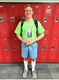 """School, Tumblr, and Blog: irst Day of Pre-schoo <p><a class=""""tumblr_blog"""" href=""""http://ruinedchildhood.com/post/87399193764/this-guy-wore-the-same-outfit-on-his-last-day-of"""">ruinedchildhood</a>:</p> <blockquote> <p>This guy wore the same outfit on his last day of high school as his first day of preschool.</p> </blockquote> <p>is that macklemore when he thought he was gay?</p>"""
