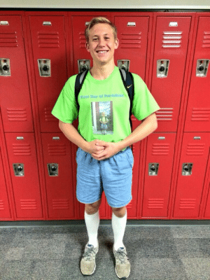 School, Target, and Tumblr: irst Day of Pre-schoo ruinedchildhood:This guy wore the same outfit on his last day of high school as his first day of preschool.