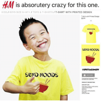 Send noods 😂😂: is absorutery crazy for this one.  KIDS/ BOYS SIZE 8-14Y+ TOPS &T-SHIRTS T-SHIRT WITH PRINTED DESIGN  T-shirt with Printed Design  $5.99  SEND NOODS  SEND NOODS  OSPETTACOMEDY  SeND NOODS  ADO TODAO  Free standard shecin on orde  over $40 with code 0040  DESCRIPTION  with a prinbed design  DETAILS  60% cotton 40% polyester  mported  Art No 73-7788 Send noods 😂😂