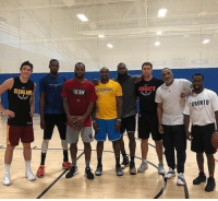 Interesting group at UCLA today...🧐  (via thereal94feetofgame/IG): IS AN  GOLDEN STATE  TORONTO  TORONTO Interesting group at UCLA today...🧐  (via thereal94feetofgame/IG)