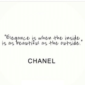 """https://iglovequotes.net/: is as beautiful as the outside.""""  CHANEL https://iglovequotes.net/"""