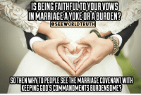 """👇👇⤵⤵⤵ One who has not matured in love, can not love God, just like they can't love their spouse and be faithful to them. 🔥Know that the new testament gives us a POWER to walk out the ways of GOD by the SPIRIT! So those who walk in the spirit CAN walk out the ways of God and overcome the flesh which is the law of DEATH! The flesh can not submit to the ways of God, but the spirit can and will obey his laws because they love GOD!! THIS IS THE SUMMARY OF ROMANS!!!👇👇👇 📖1 John 5:3 """"Loving God means keeping his commandments, and his commandments are not burdensome."""" 📖Matthew 11:30 """"For my yoke is easy to bear, and the burden I give you is light."""" ➡If you don't know what commandments. Go back to Matthew chapters 5-7. Better yet read his parables and every law is based on the Torah... 📖 John 14:15 """"IF YOU LOVE ME, you will keep my commandments. ➡This is a love letter! 📖 Psalm 119:60 """"I hasten and do not delay to keep your commandments"""" 📣Read all of Psalm 119 he speaks of GRACE and TRUTH same as JOHN 17 remember who is the living law. If you opened up the chest of Jesus """"Yeshua"""" and seen his heart words of the Torah would pour out! In Ezekiel 36:26-27 and Jeremiah 31:33 we should also have the Torah (law) pouring out which is written on our hearts... 📖 Psalm 119:44 """"I will keep your law continually, forever and ever,"""" 📣This is why David was a man after Gods own heart. This is why Jesus was a descendant of David. 📖 2 Chronicles 31:21 """"And every work that he undertook in the service of the house of God and in accordance with the law and the commandments, seeking his God, 👉he did with all his heart, and prospered."""" 📖 Hebrews 5:9 """"And being made perfect, he became the source of eternal salvation to all 👉who obey him"""" 📖 1 John 2:17 """"And the world is passing away along with its desires, but whoever does the will of God abides forever."""" 📖➡ Luke 11:28 But he said, """"Blessed rather are those who hear the word of God and keep it!"""" 🔦Remember there was no new testament written, it was jus"""
