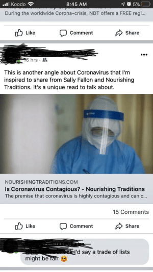 Is Corona Virus contagious? Author: some lady who publishes cookbooks for a living.: Is Corona Virus contagious? Author: some lady who publishes cookbooks for a living.