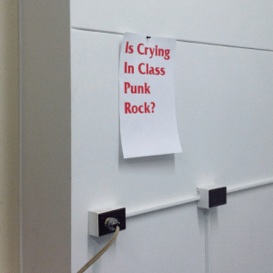 Crying, Class, and Rock: Is Crying  In Class  Punk  Rock?