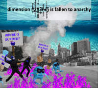 """News, Reddit, and Breaking News: is fallen to anarchy  dimension #29f  WHERE IS  OUR RED?  WHERE IS  OUR RED?  D?  WH <p>[<a href=""""https://www.reddit.com/r/surrealmemes/comments/7wtr6e/breaking_news_stay_inside/"""">Src</a>]</p>"""