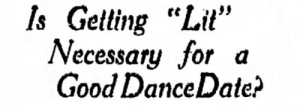 "kishona:  heartshop:  yesterdaysprint:  The Rhinelander Daily News, Wisconsin, April 21, 1927  Nineteen Twenty Seven  me in 1927: this is an article from 2017 : Is Getting ""Lit""  Necessary for a  Good DanceDate? kishona:  heartshop:  yesterdaysprint:  The Rhinelander Daily News, Wisconsin, April 21, 1927  Nineteen Twenty Seven  me in 1927: this is an article from 2017"