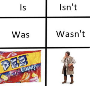 meirl: Is  Isn't  Was  Wasn't  DEE  Candy meirl